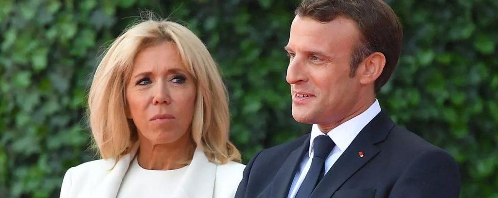 Emmanuel Macron et sa femme