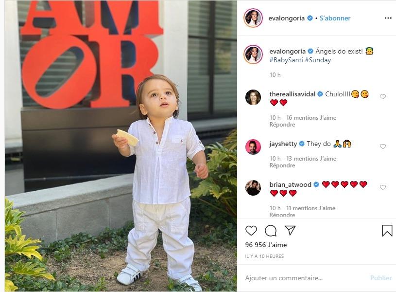 Eva Longoria et son fils sur instagram