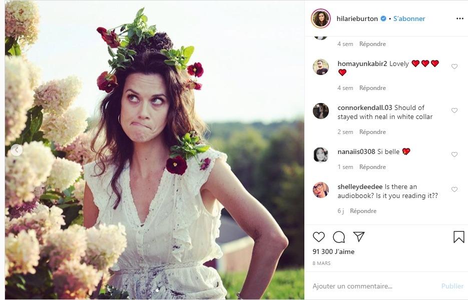 Hilarie Burton sur instagram