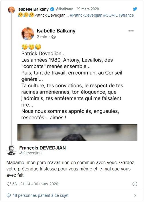 Isabelle Balkany clashée par le fils de Devedjian