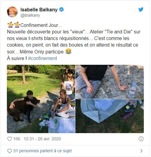 Isabelle Balkany sur Twitter
