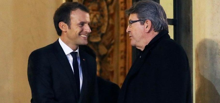 Jean-Luc Mélenchon et Emmanuel Macron