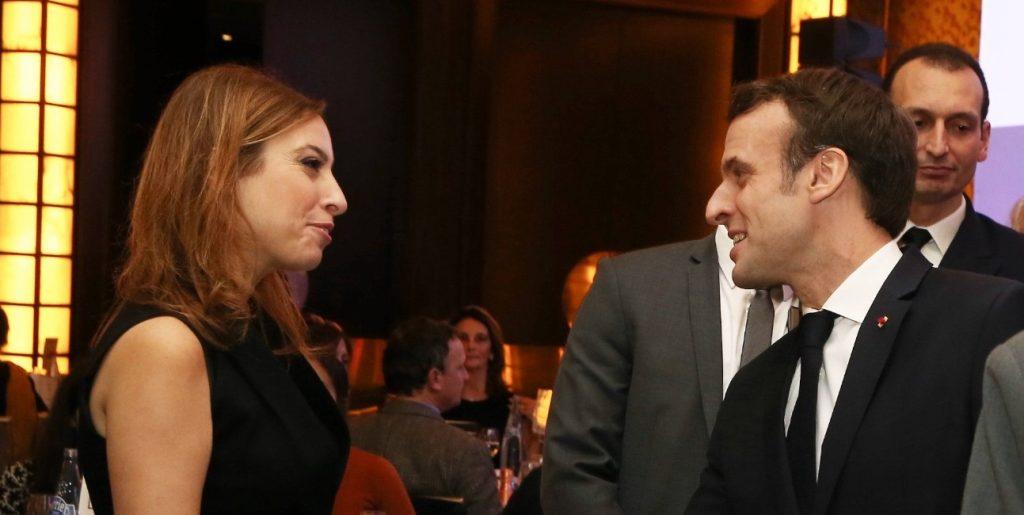 Léa Salamé et Macron