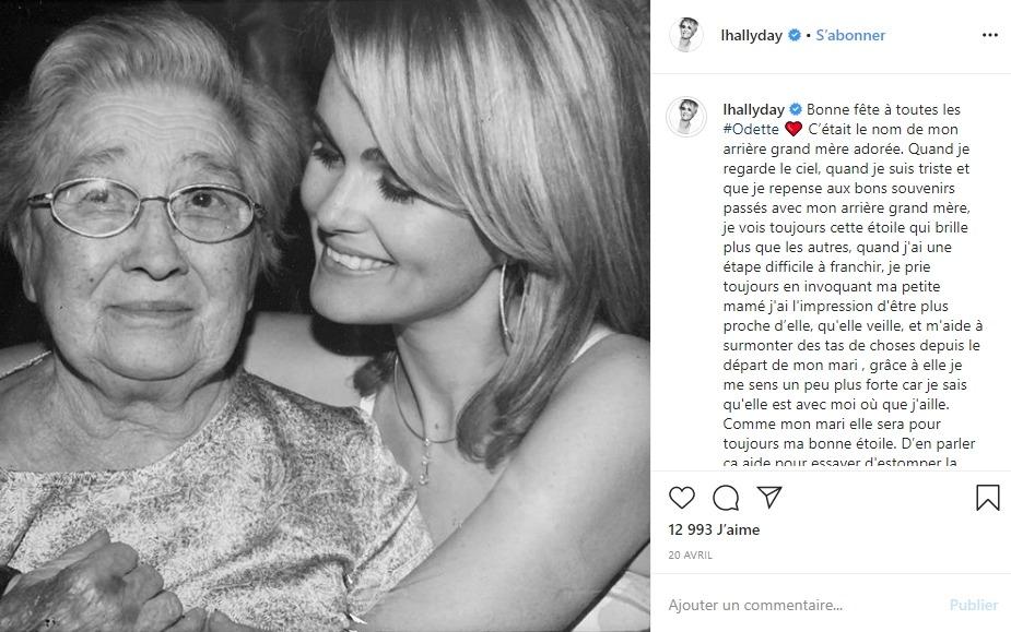Laeticia Hallyday et son arrière grand mère