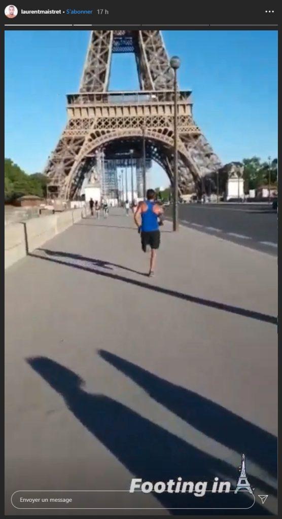 Laurent fait un footing sur instagram