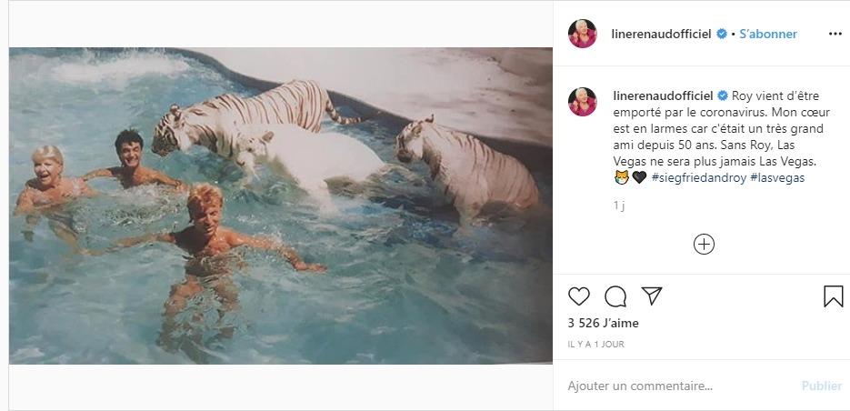 Line Renaud sur Instagram