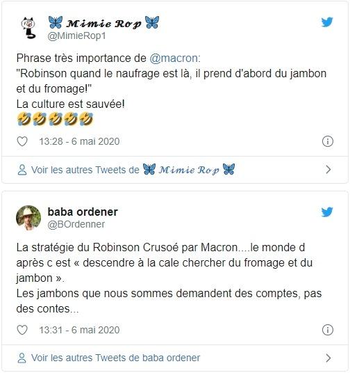 Macron sur Twitter