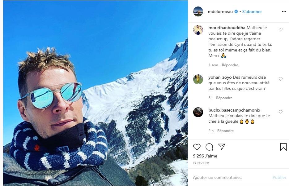Matthieu Delormeau sur instagram