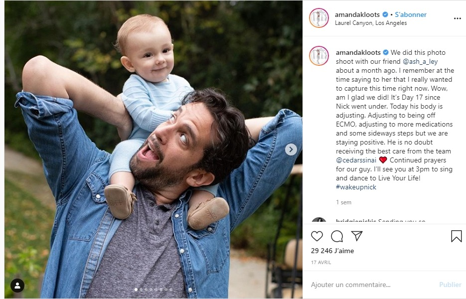 Nick Cordero et son fils