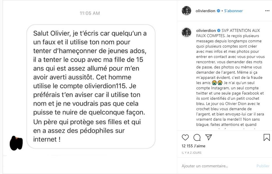 Olivier Dion en colère