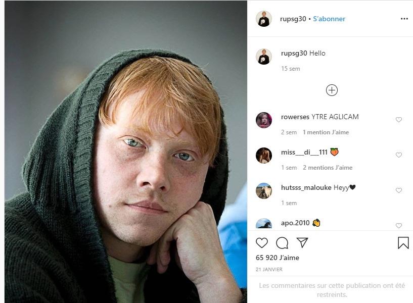 Rupert Grint sur instagram