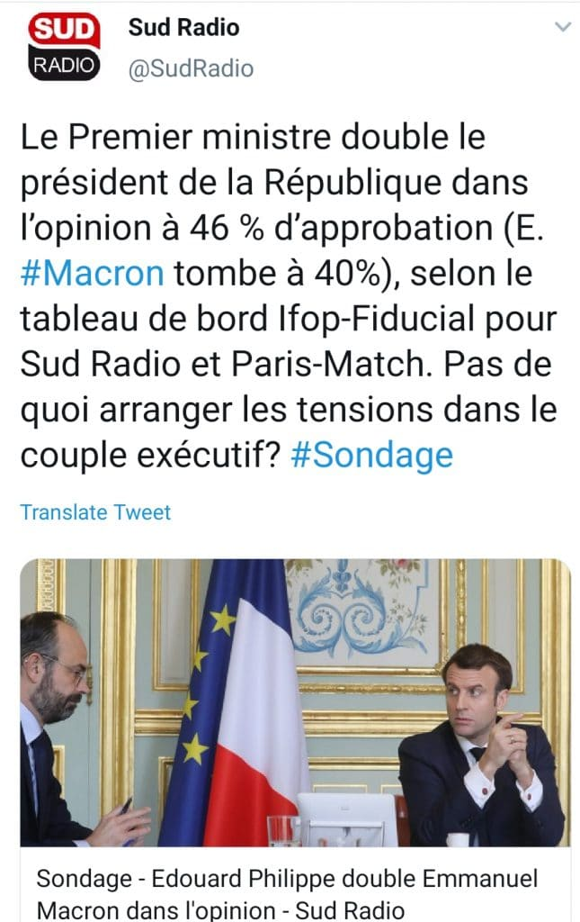 Sondage Macron-Philippe