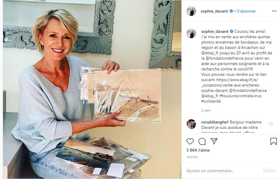 Sophie Davant sur instagram