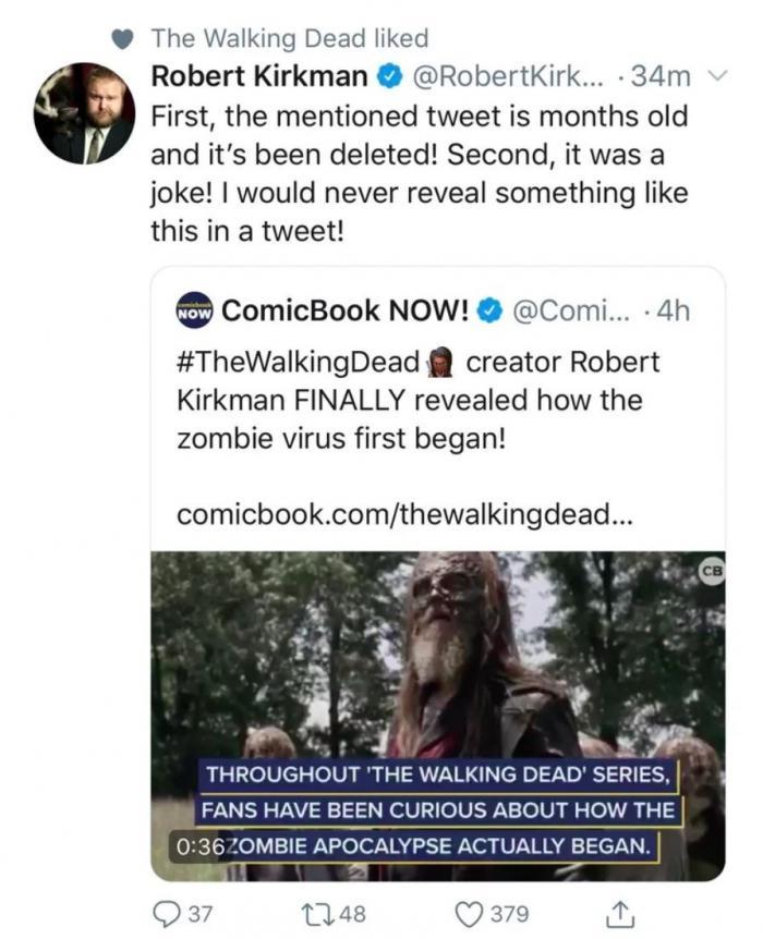 Tweet de Robert Kirkman