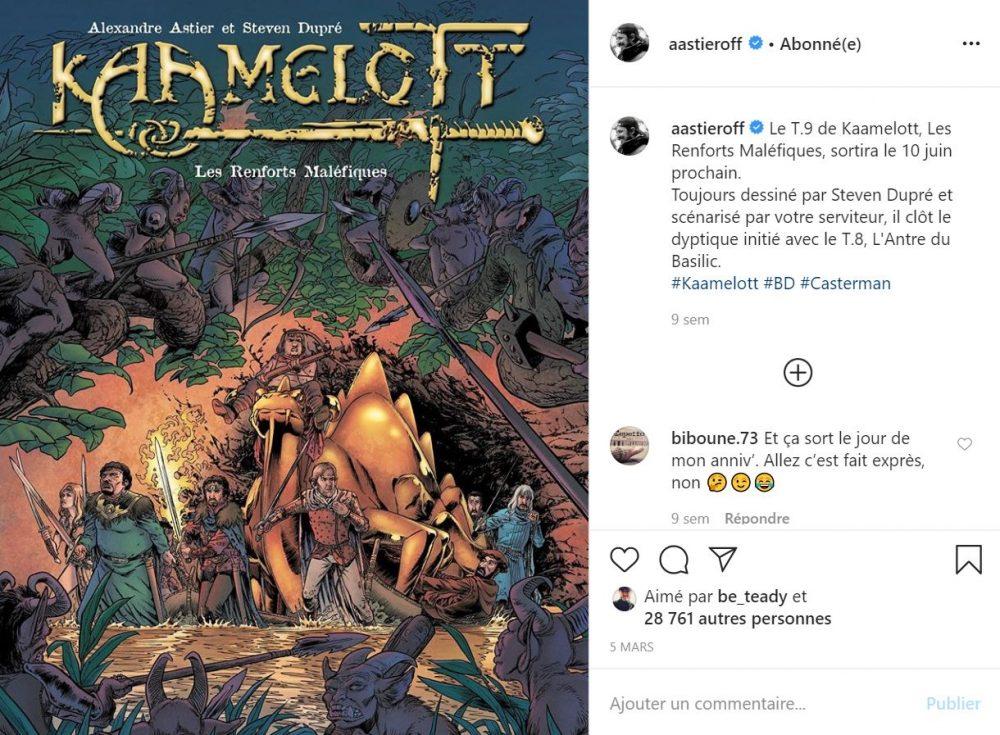 Alexandre Astier annonce la sortie du tome 9 de la BD Kaamelott