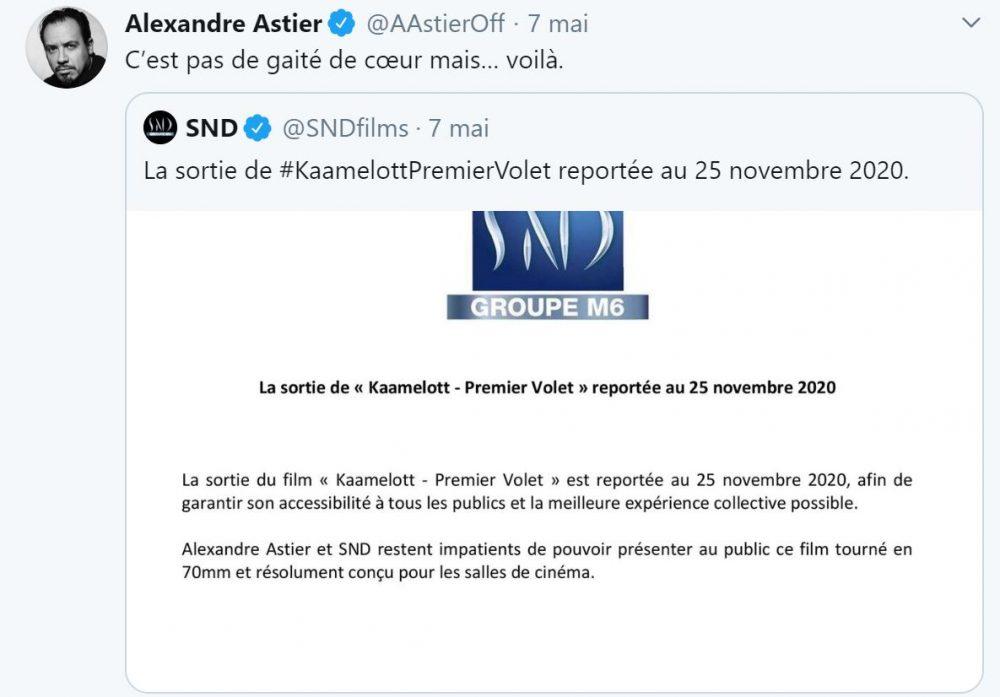Alexandre Astier annonce le report de la sortie de Kaamelott