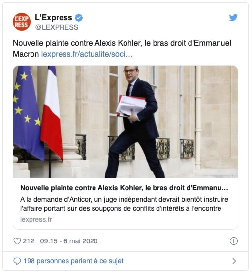 Le bras droit de Macron visé par une nouvelle plainte déposée par Anticor