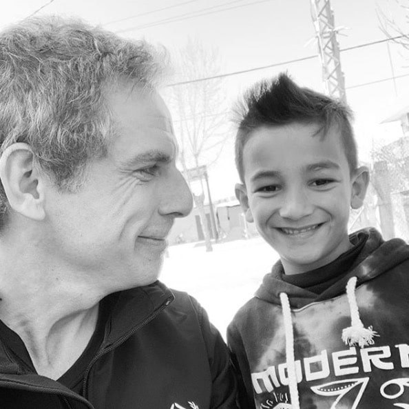 Ben Stiller et un enfant réfugié