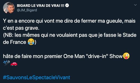 Jean-Marie Bigard sur Twitter