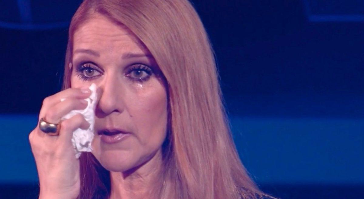 Céline Dion en larmes