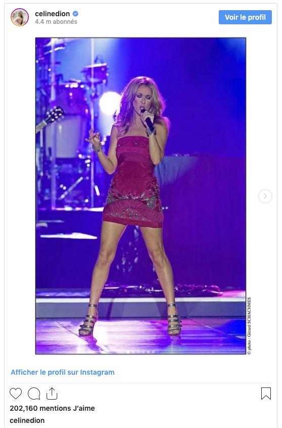 Céline Dion dans un look attrayant
