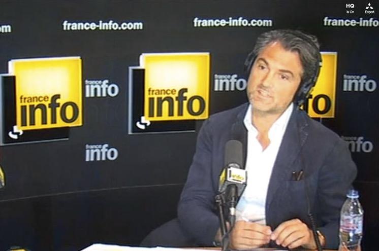 Stéphane Delajoux sur Franceinfo