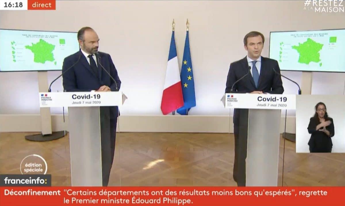 Edouard Philippe et Olivier Véran dévoilent la carte des départements !