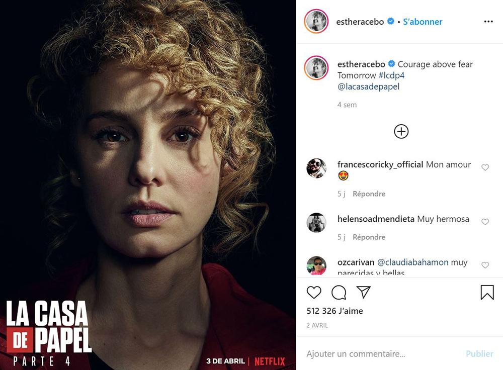Esther Acebo annonce la nouvelle saison de Casa de Papel sur Netflix