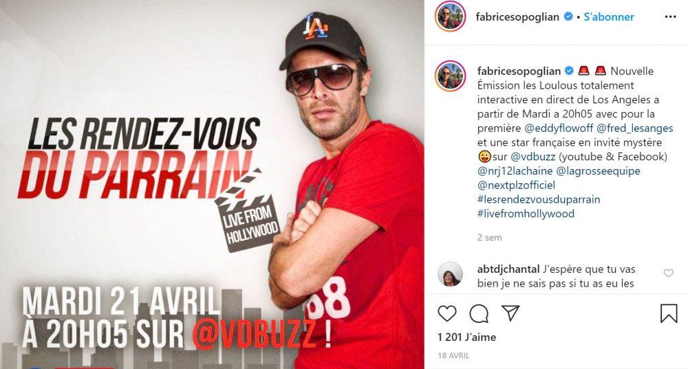 Fabrice Sopoglian anime la nouvelle émission les rendez-vous du parrain