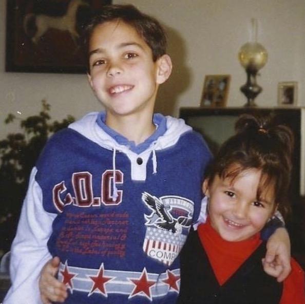 Grégory Lemarchal et sa soeur, Leslie Lemarchal