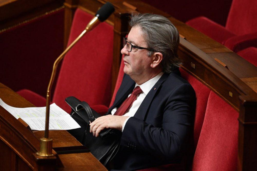 Jean-Luc Mélenchon donne son avis suite à la présentation de la carte des départements