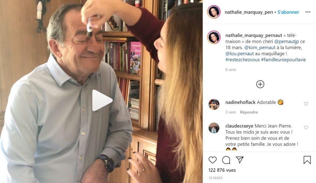 Jean-Pierre Pernaut se fait maquiller par sa fille Lou
