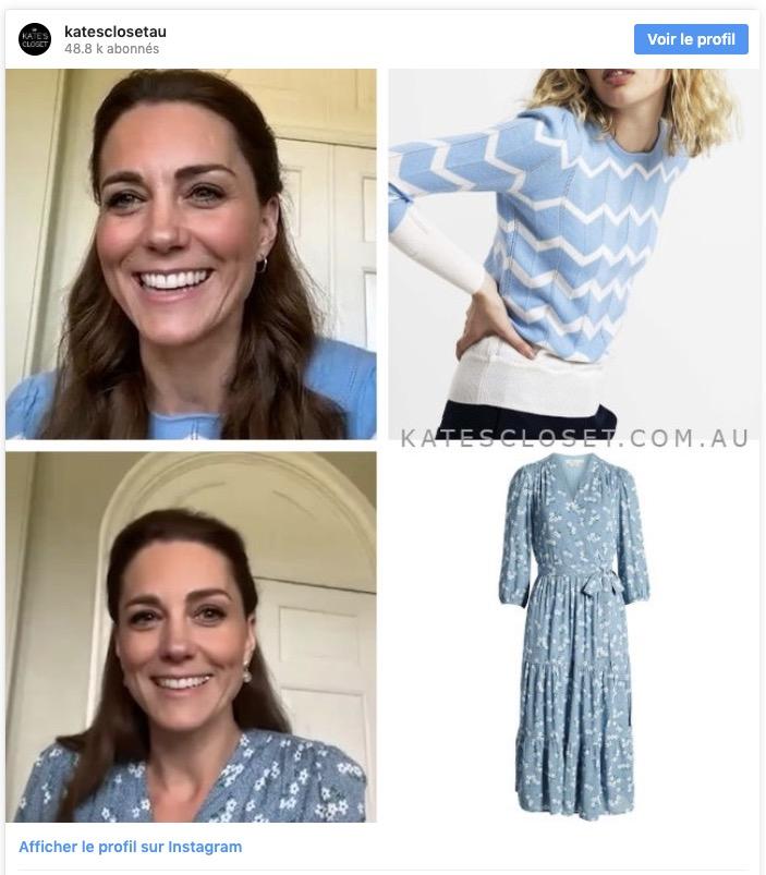 Kate Middleton s'habille très chic durant le confinement