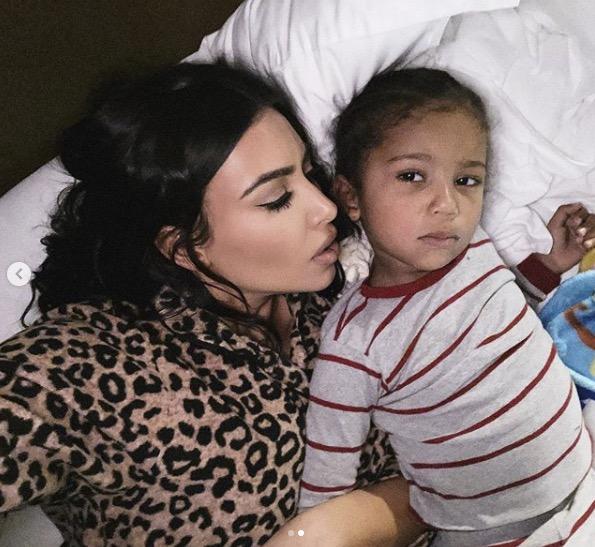 Kim Kardashian avec sa fille