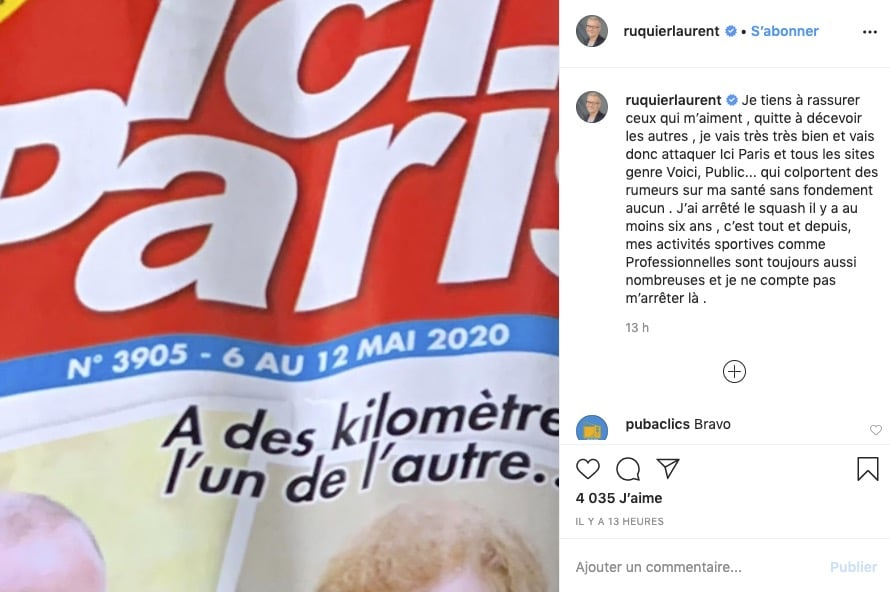 Laurent Ruquier Instagram