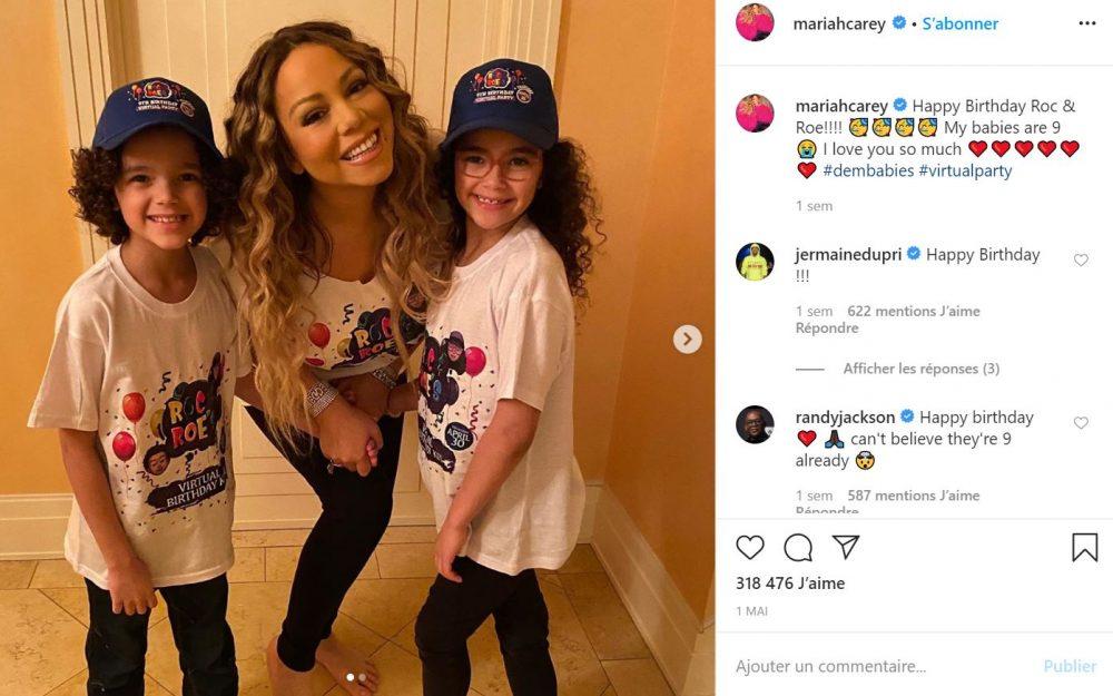 Mariah Carey fête les 9 ans de ses jumeaux