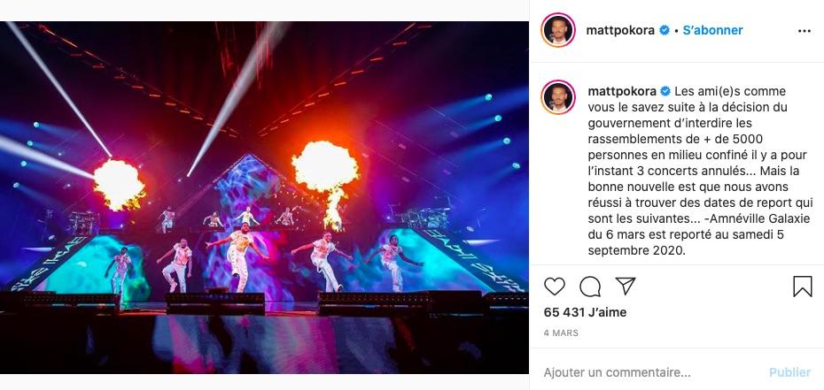 Matt Pokora sur Instagram
