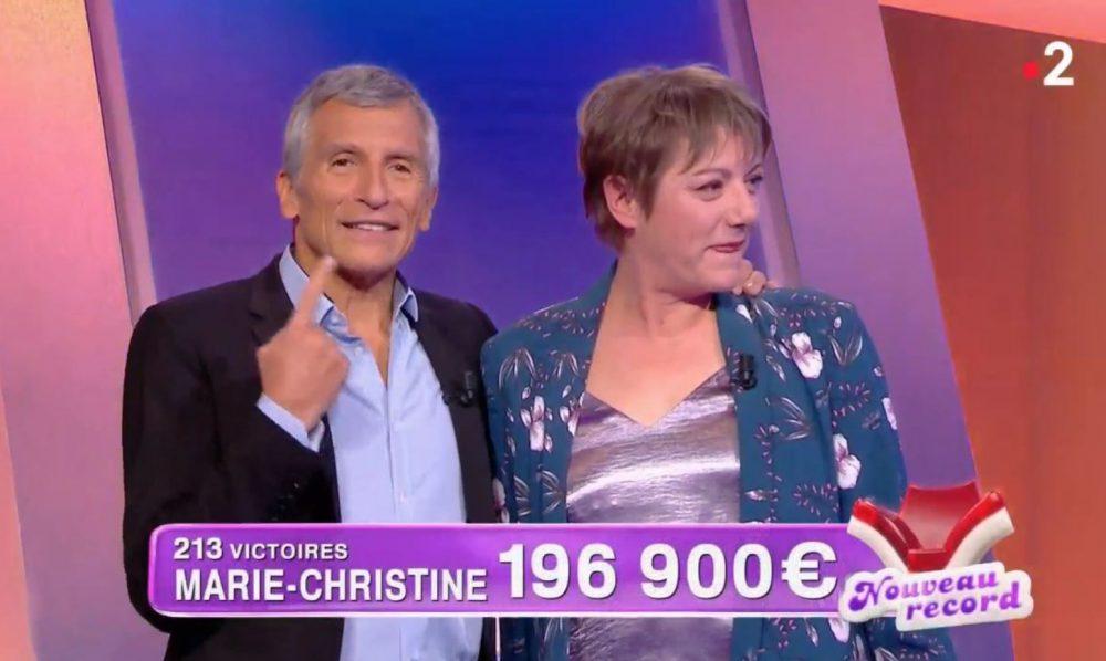 Marie-Christine est la plus grande gagnante de l'émission de Nagui