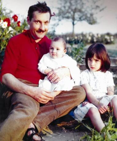 Michel Serrault et ses deux filles