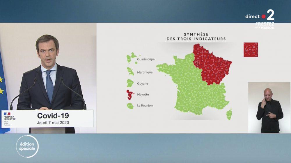 Olivier Véran prend la parole au sujet de la carte du déconfinement