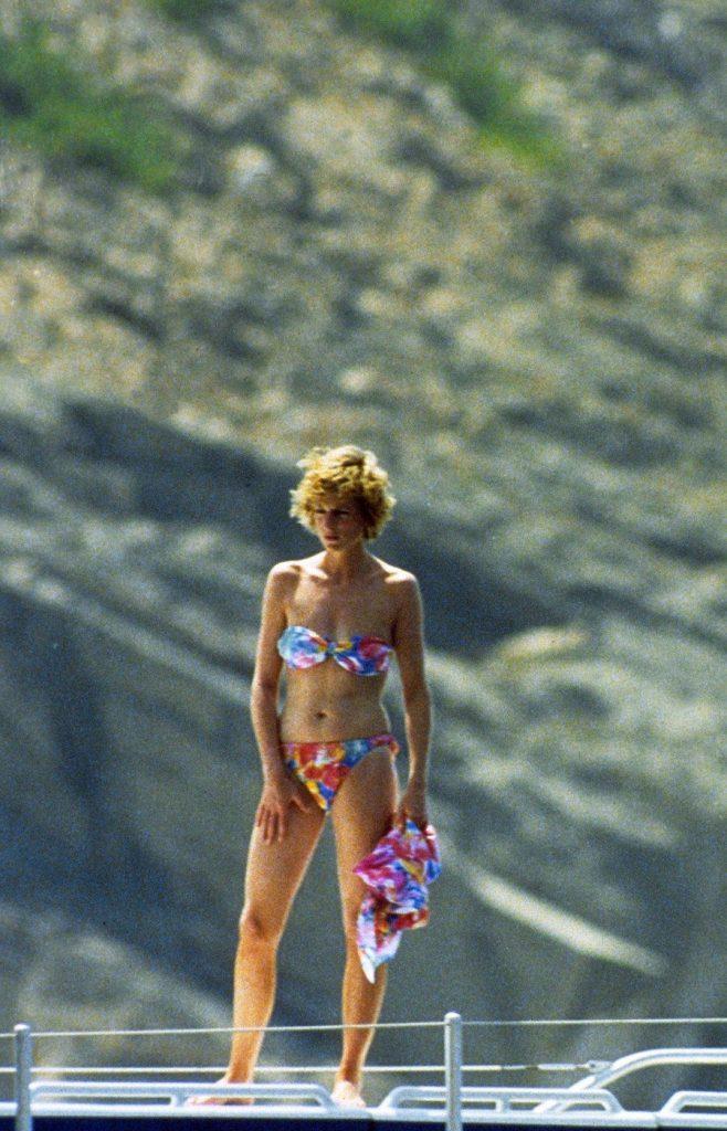 Princesse Diana en maillot de bain