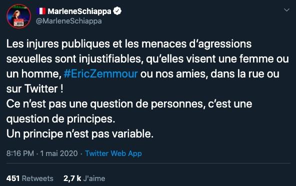 Marlene Schiappa sur Twitter