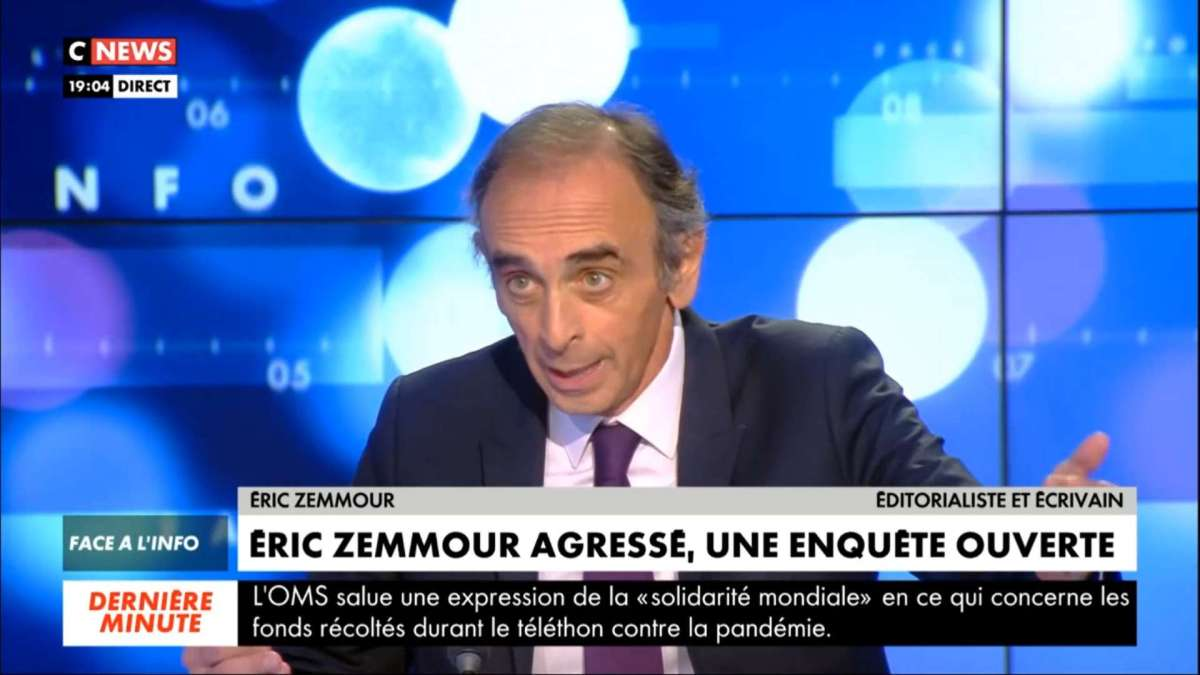 Eric Zemmour agressé