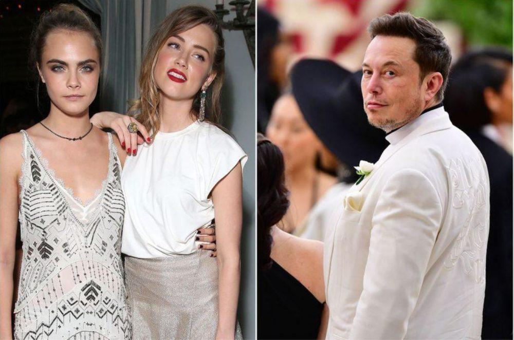 Rumeurs sur un ménage à trois d'Elon Musk, Amber Heard et Cara Delevingne