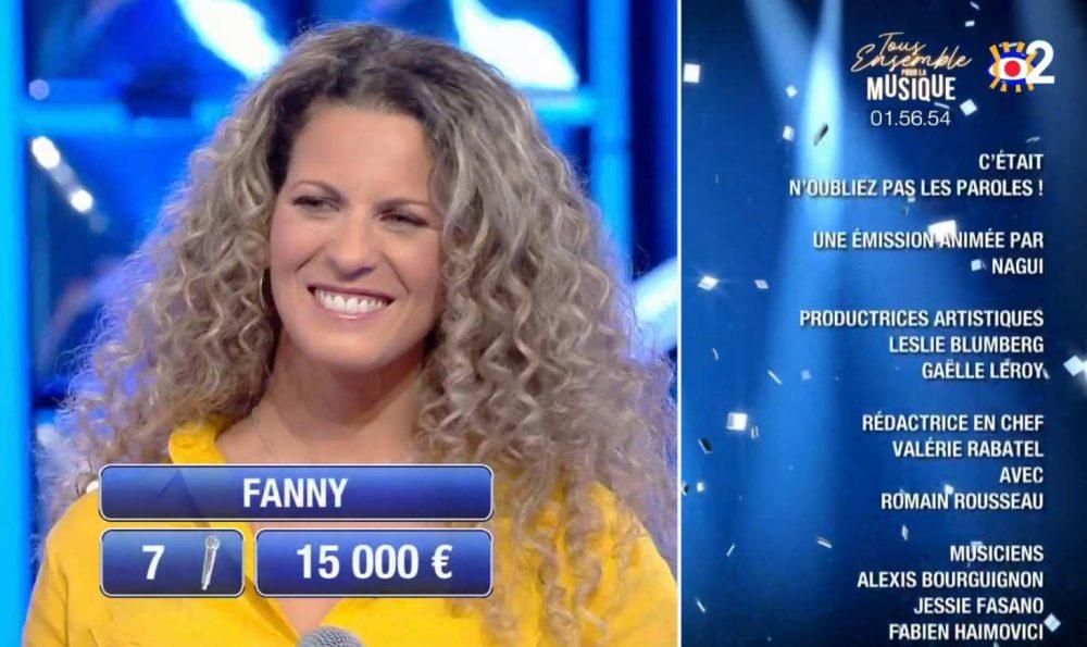 Fanny était la maestro de N'oubliez pas les Paroles