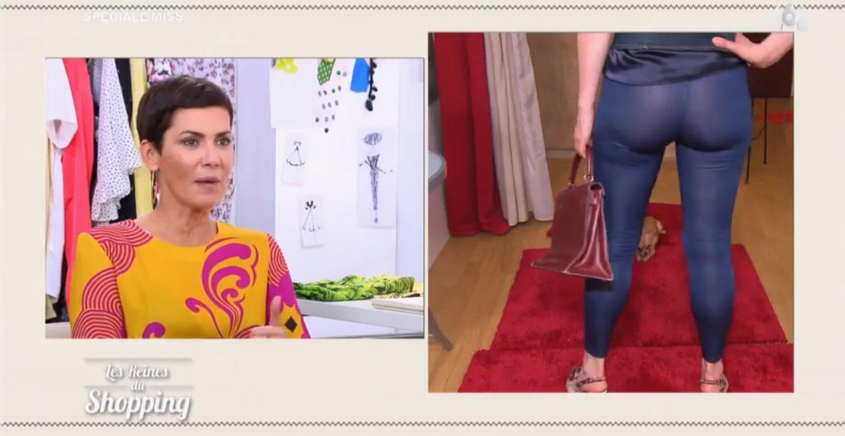 Les Reines du shopping : le legging transparent d'une candidate choque Cristina Cordula