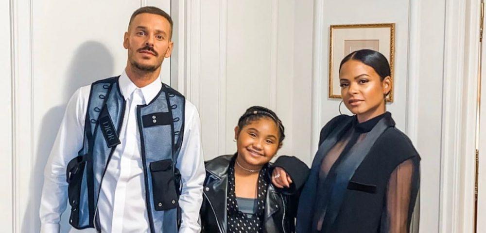 Matt Pokora, Christina Milian et Violet forment une vraie famille
