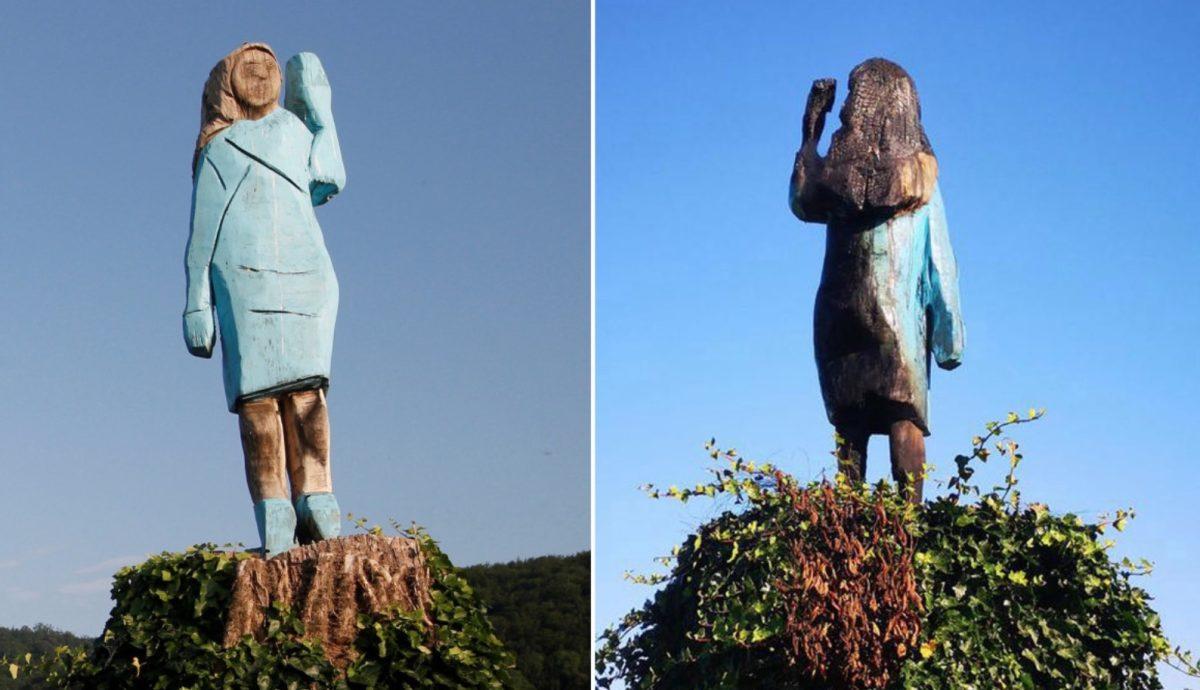 Melania Trump Statue