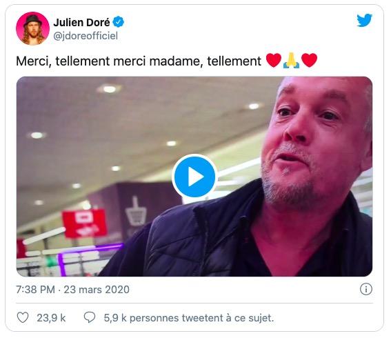 Capture Twitter du compte de Julien Doré
