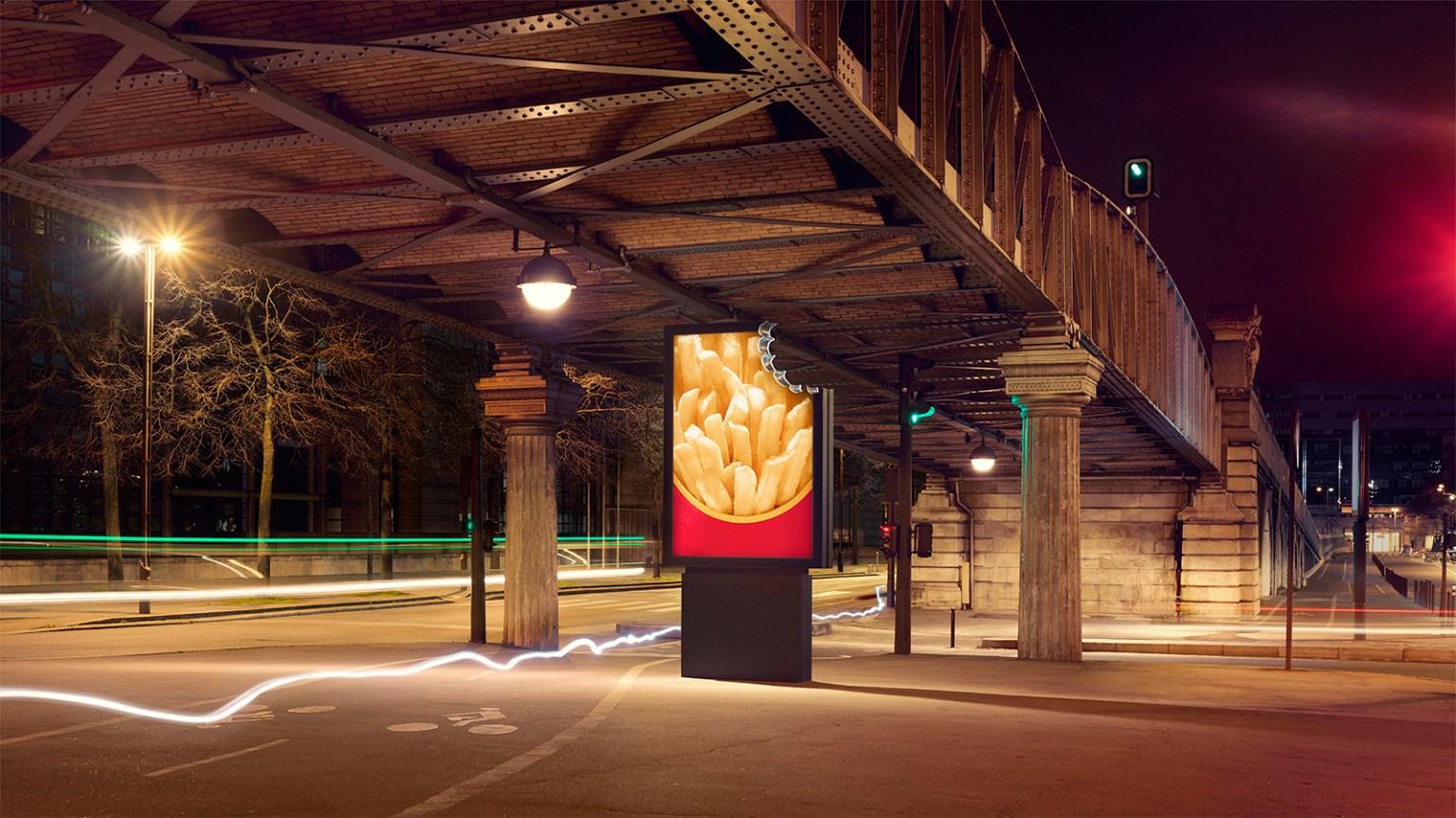 Affiche McDonald's : Grande frites